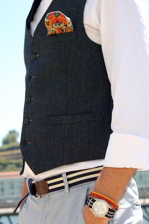 c4561a8927664 We like the waistcoat/ pocket square combo | LOOKS I WOULD WEAR ...