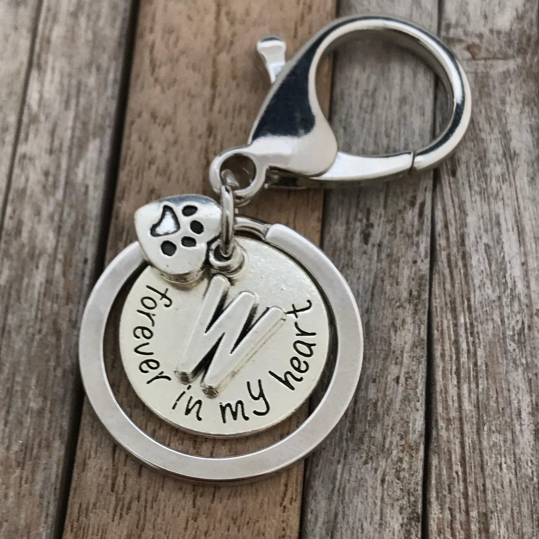 Dog loss keychain dog memorial keyring pet loss gift
