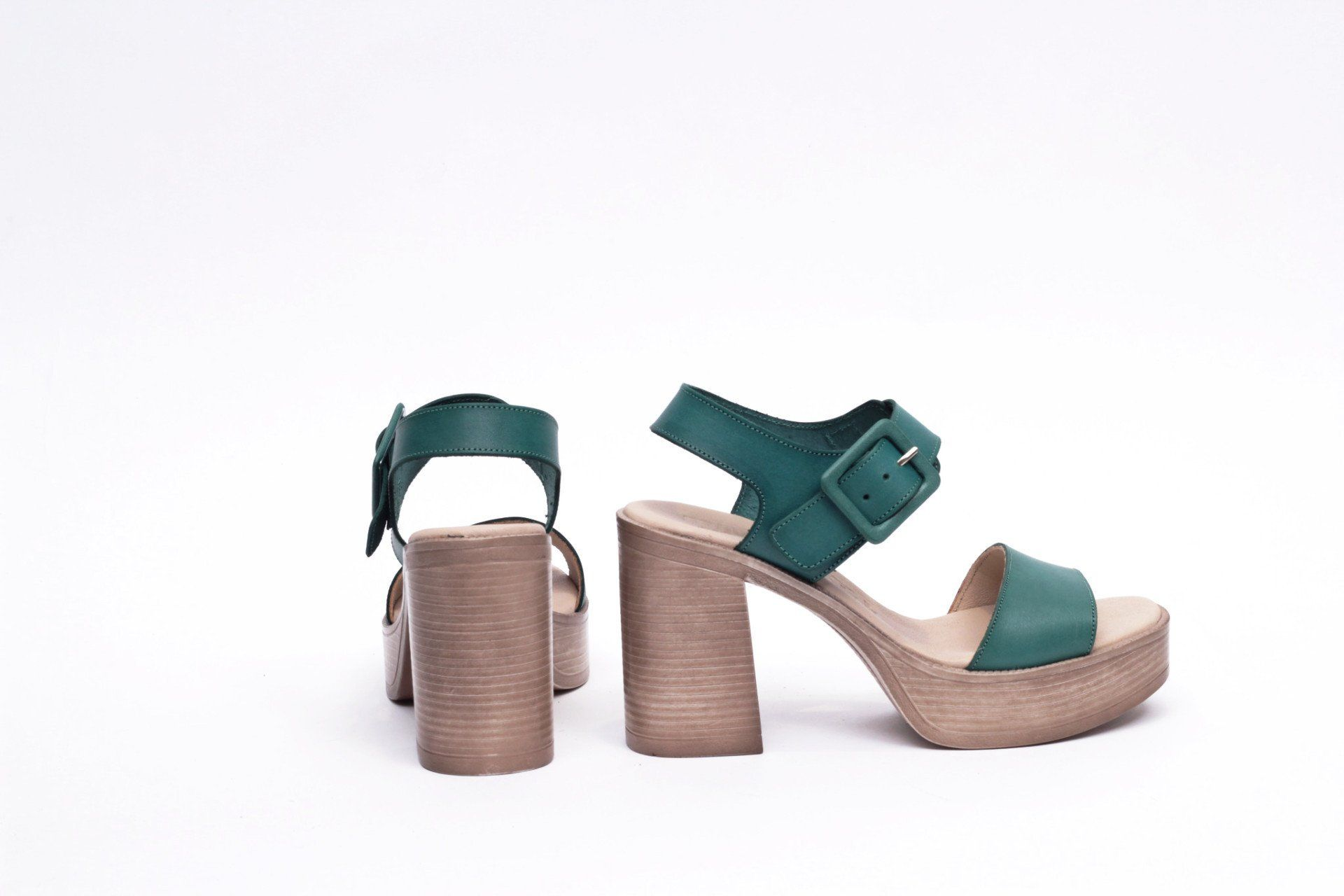 Comfort Sandalias Tacón – Cómodo Verde Plataforma Mimao Trend Mujer zqMVpSULG