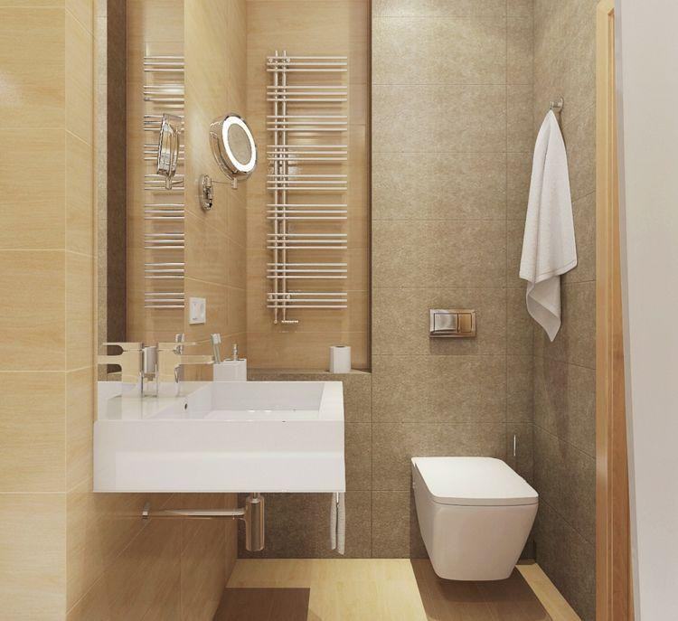 Kleine Raeume Einrichtungsideen Badezimmer Design Fliesen Beige