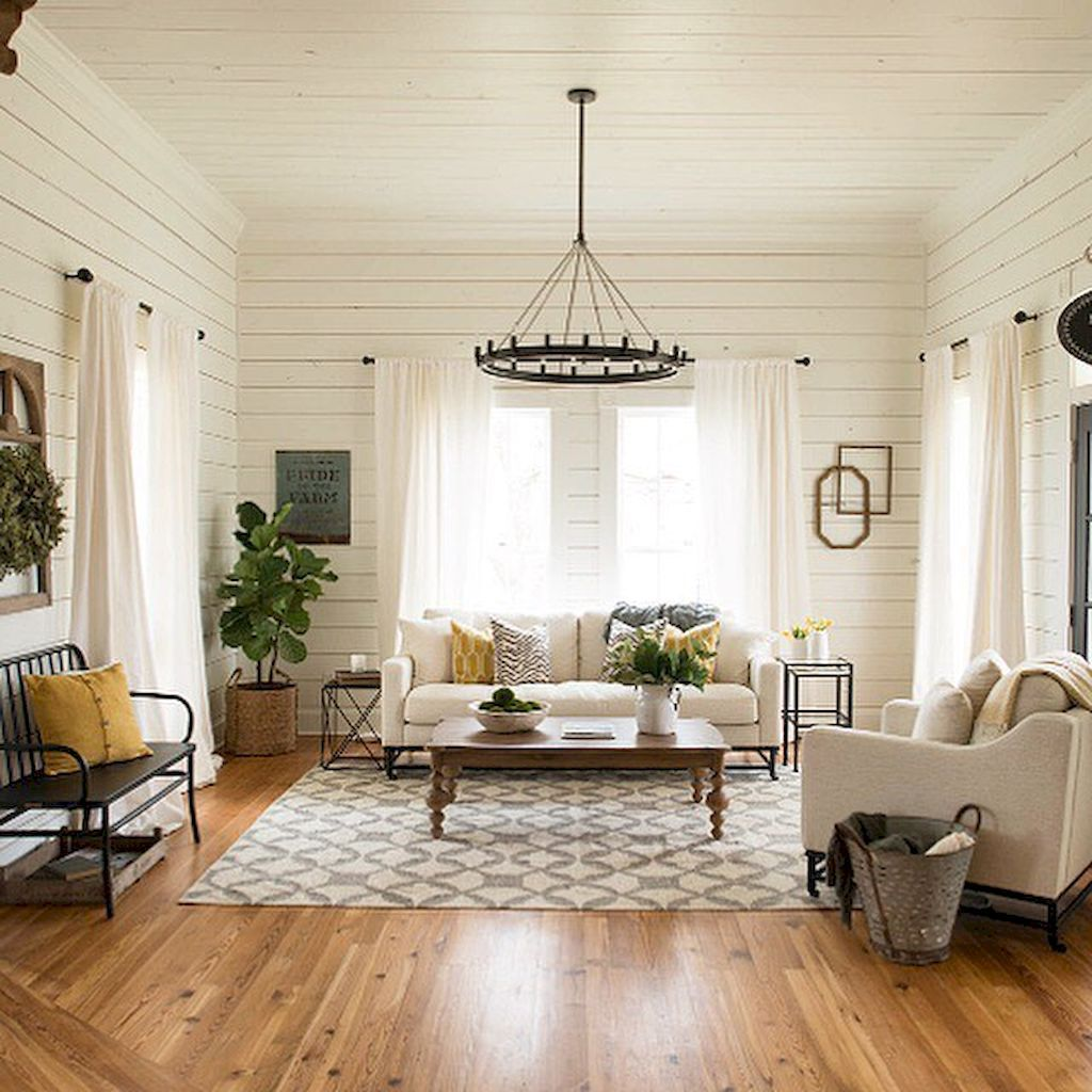 Landhaus Stil Dekorieren · Ländliche Wohnzimmer · 75 Warm And Cozy  Farmhouse Style Living Room Decor Ideas (5)