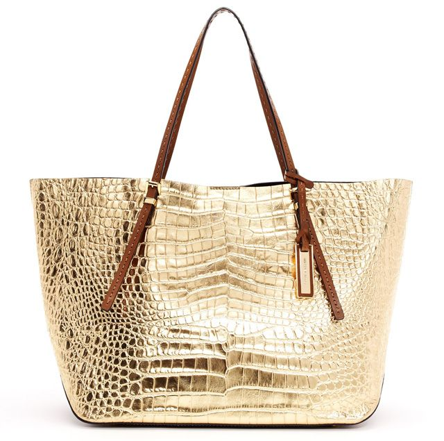 Michael Kors Gia Croc Embossed Leather Tote picture