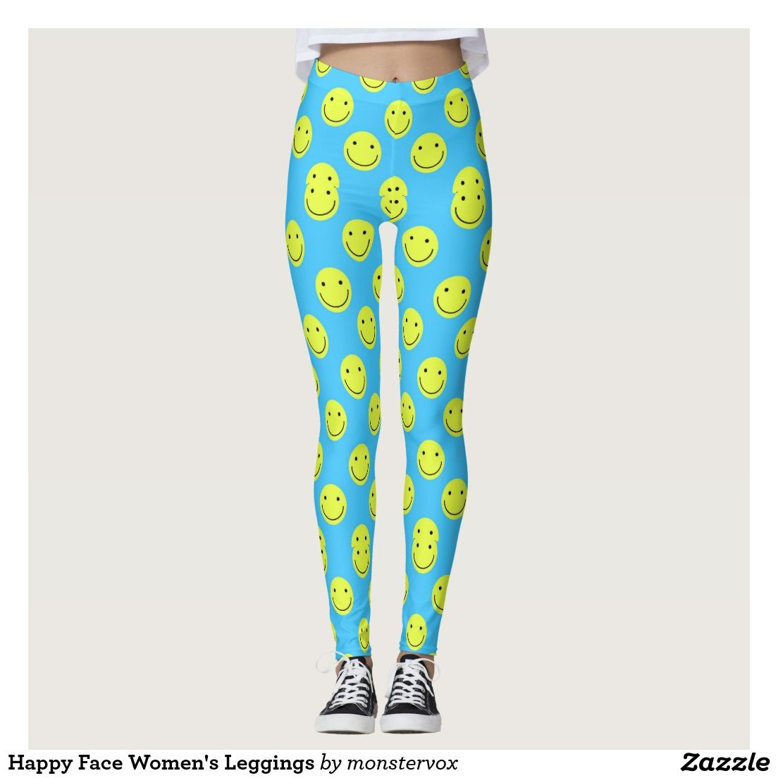 Happy Face Women S Leggings Leggings Yoga Pants Activewear Sports Sportswear Athletic Athleticwear Fashion Emoji Patterns Fashion Womens Yoga Leggings