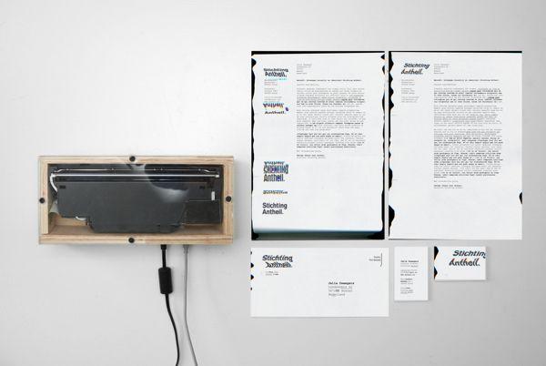 stationery / Stichting Antheil dynamic identity