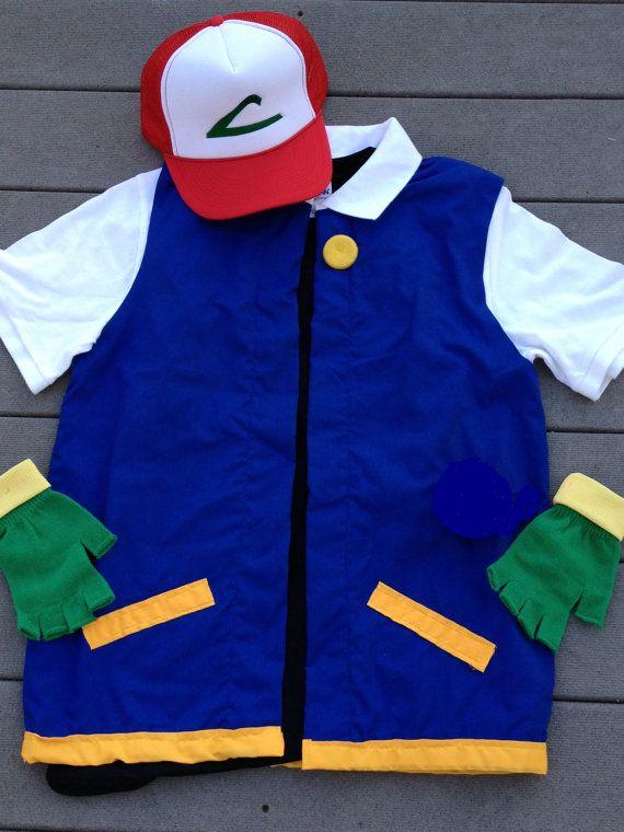 Ready to ship kidschild 1214 pokemon costume ash ketchum ready to ship kidschild 1214 pokemon costume ash ketchum cosplay 3 pc hatjacketgloves halloween cosplaydiy solutioingenieria Images