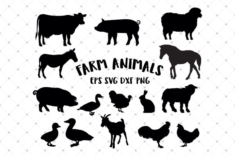 Free Farm Animal Svg Silhouettes Crafter File Farm Animals Cricut Animals Animal Silhouette