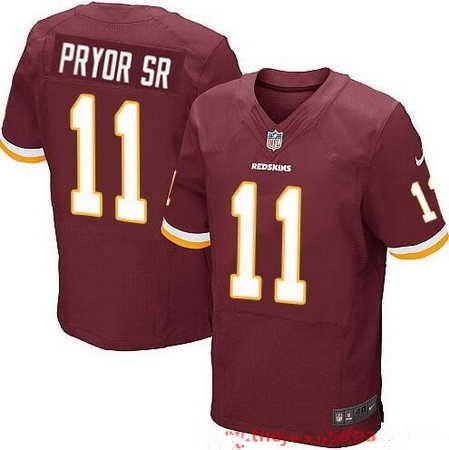 22 Washington Redskins  11 Terrelle Pryor Sr Burgundy Red Team Color Nike  NFL Elite Men s Stitched Jersey 9edada17c