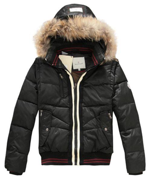 3263b996f660 Moncler Designer Mens Down Jackets With Rabbit Hat Black