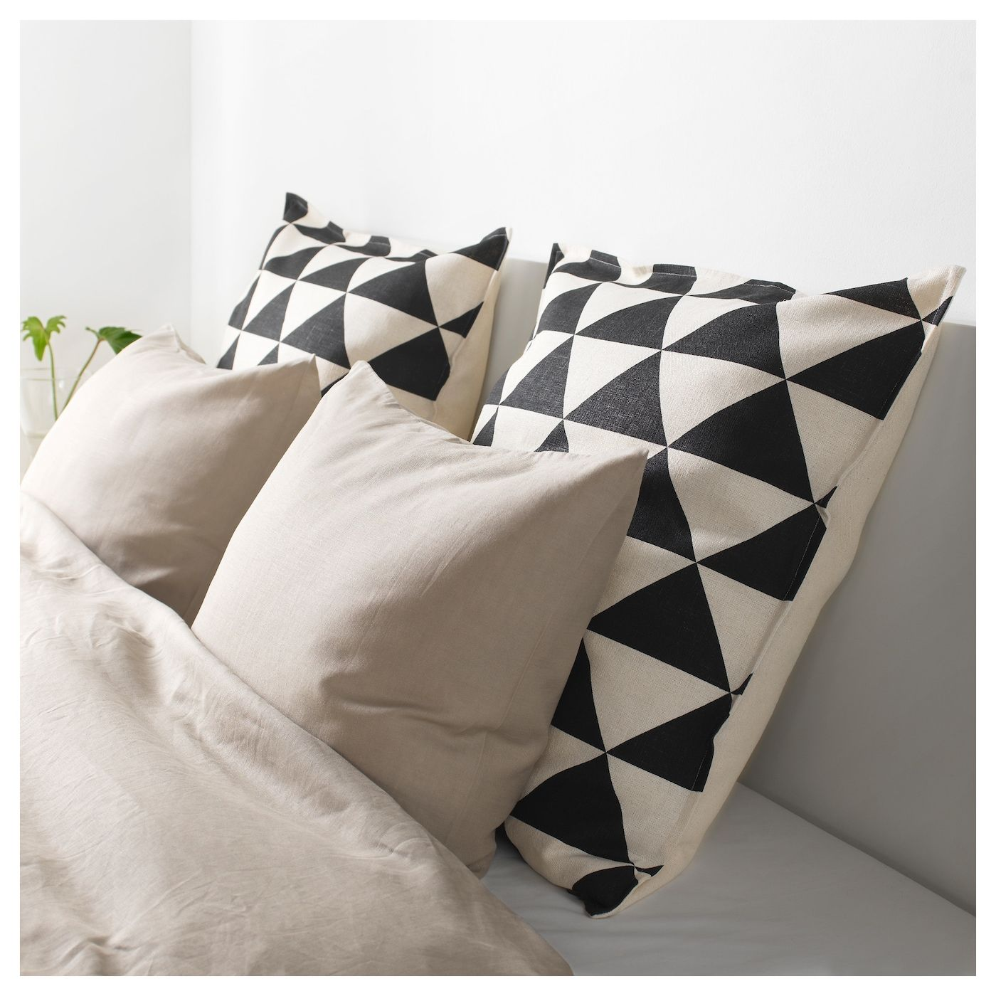 "JOHANNE Cushion cover natural, black 26x26 "" Cushion"