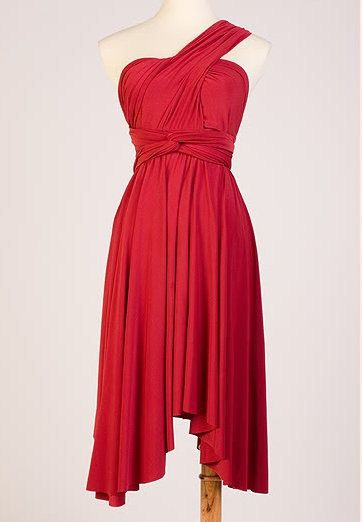Convertible Wrap dress in red via Etsy.