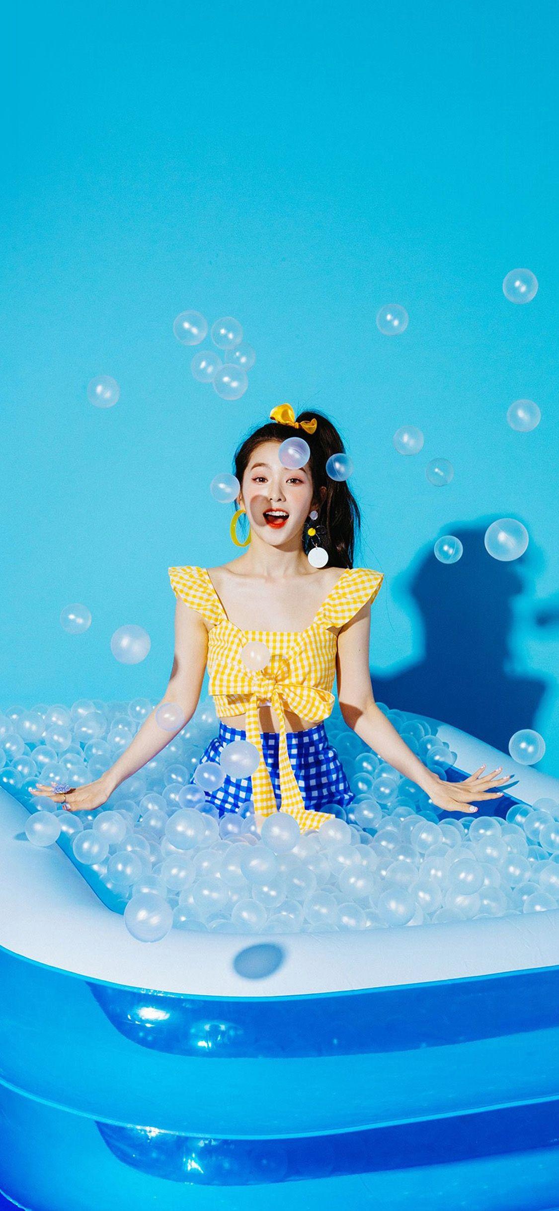 iPhoneX wallpaper: hr03-blue-girl-redvelvet-kpop-summer ...