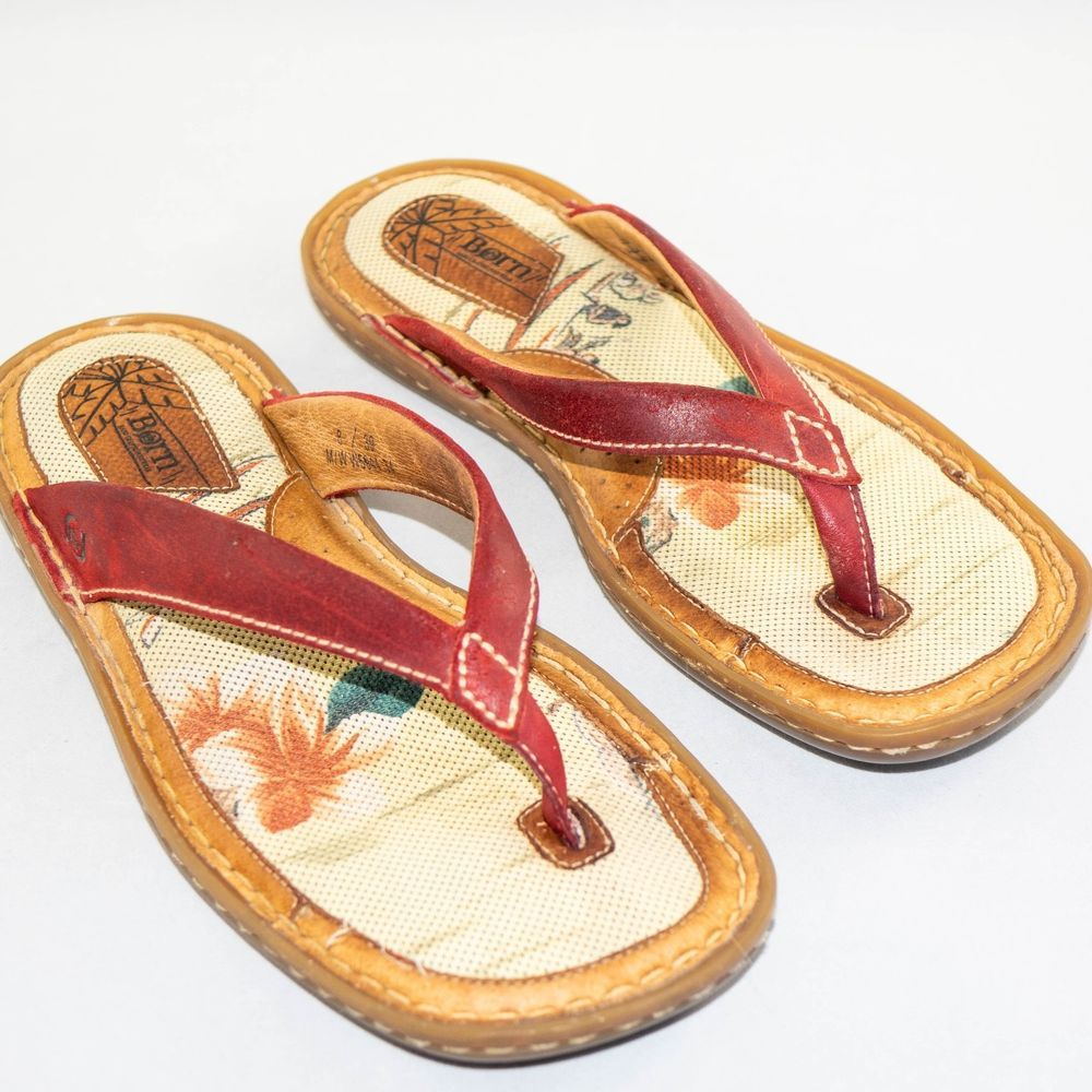 90748b5f681 Women s BORN Size 8-39 Flip Flops Thong Red Padded Comfortable Durable   fashion  clothing  shoes  accessories  womensshoes  sandals (ebay link)