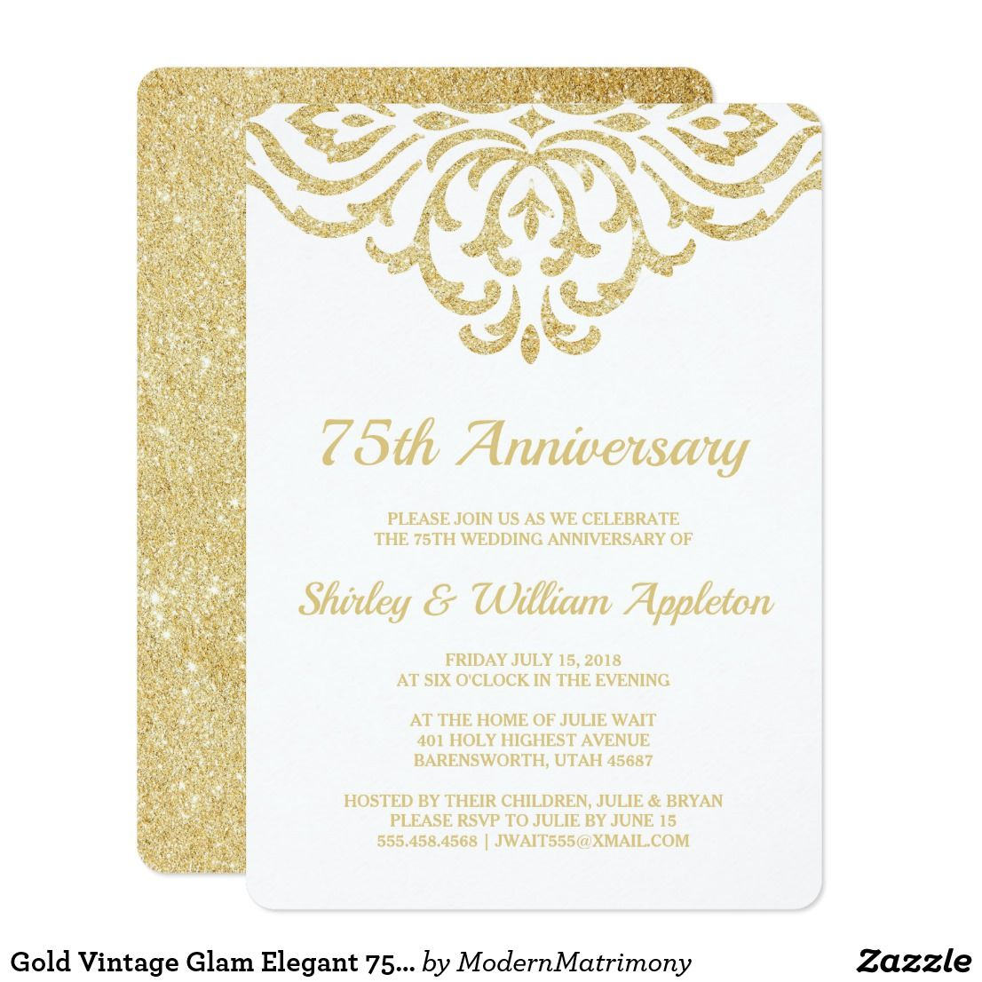 75th wedding anniversary cards