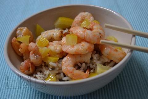 #Receta de arroz con langostinos infernales. ¡Para los que les gusta el picante!