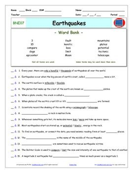 Printables Earthquake Worksheet earthquake worksheets davezan bill nye earthquakes worksheet answer sheet and two quizzes