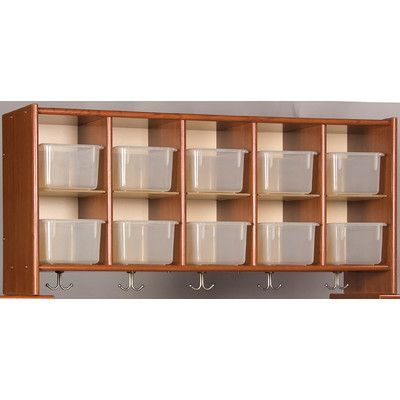 TotMate Eco Laminate 10 Compartment Cubby Color: Cherry