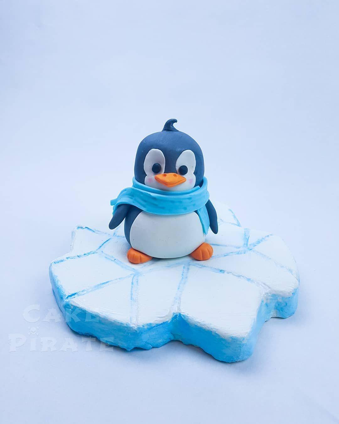 """Cake Pirate on Instagram: """"Penguinlove! Little Cake topper for our friends sons birthday. ❤ Pingulove! Ein kleiner Pinguin-Topper für die Geburtstagstorte des süßen…"""""""