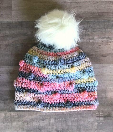 Free Crochet Hat Pattern- The Bobble Hat   Gorros, Dios es amor y Tejido