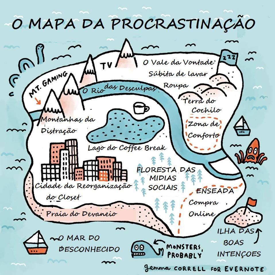 Mapa Da Procrastinacao Mapa Procrastinacao Tao Engracado