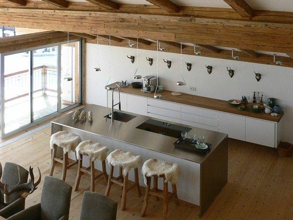 Cocinas con isla multifuncional para todos los estilos | Acero ...