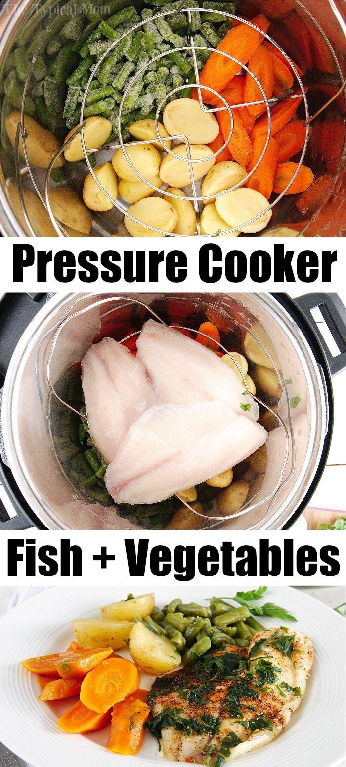 Pressure Cooker Fish and Vegetables Together!