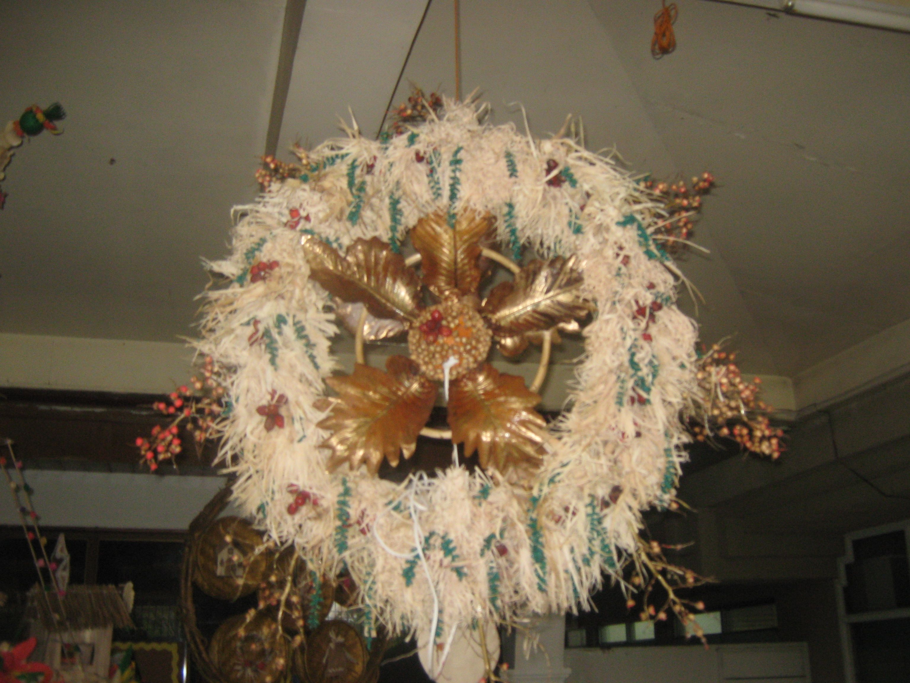 In My Office We Had A Parol Making Contest Each Parol Must Be Made By Every Employee And Not By An Expert Only R Christmas Wreaths Parol Christmas Star