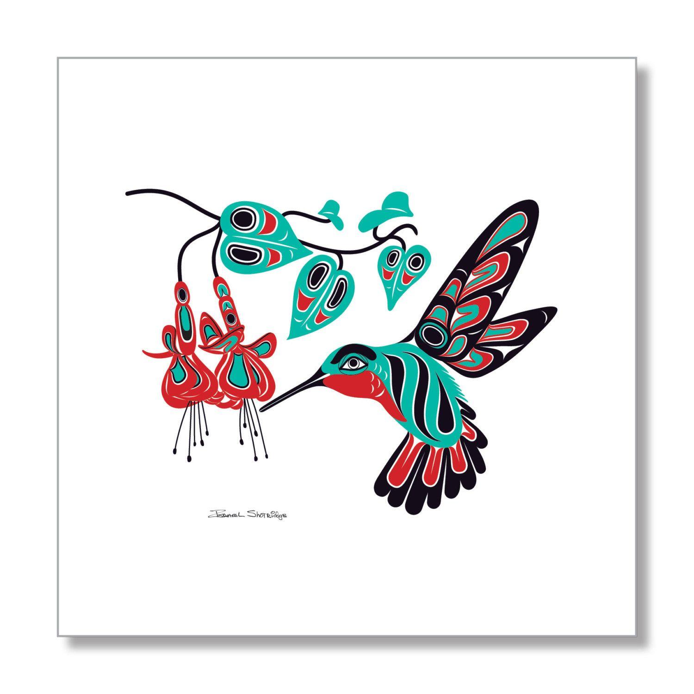 HUMMINGBIRD & FUCHSIA Limited Edition Giclée Art Print