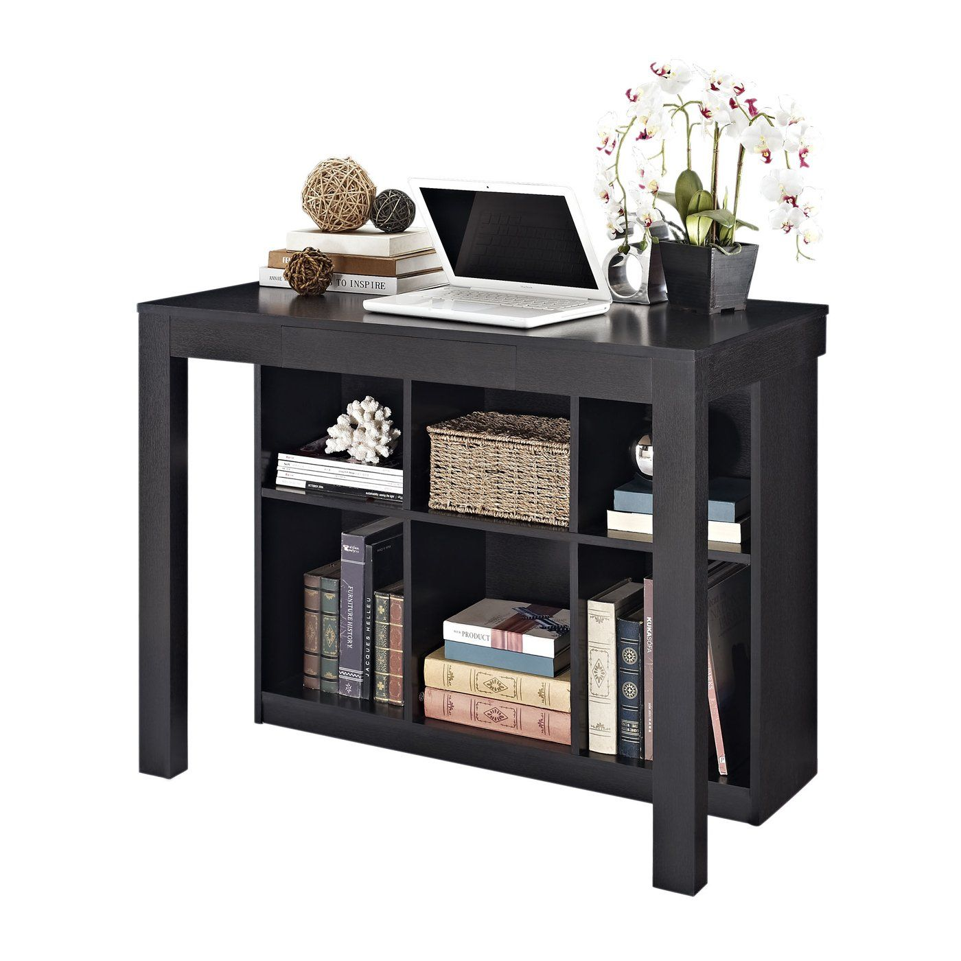 Altra Furniture 9394096 Parsons Style Desk With Drawer And Bookcase