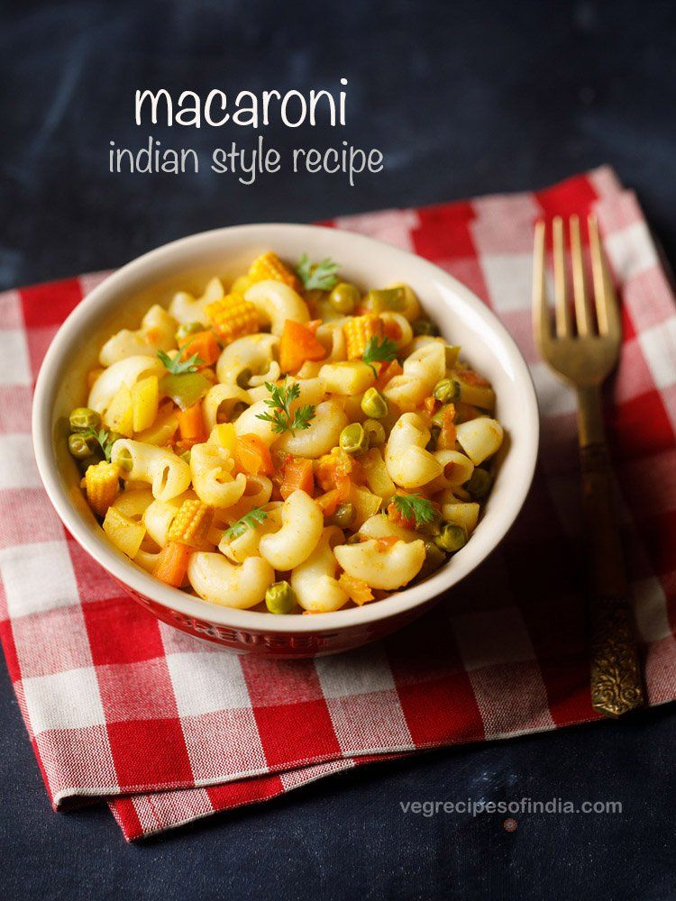 Macaroni Recipe With Images Macaroni Recipes Recipes Veg Breakfast Recipes