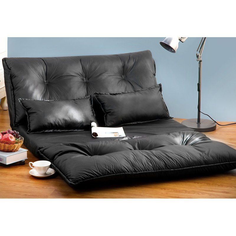 This PU leather floor sofa bed can be used as a chair bed lounge