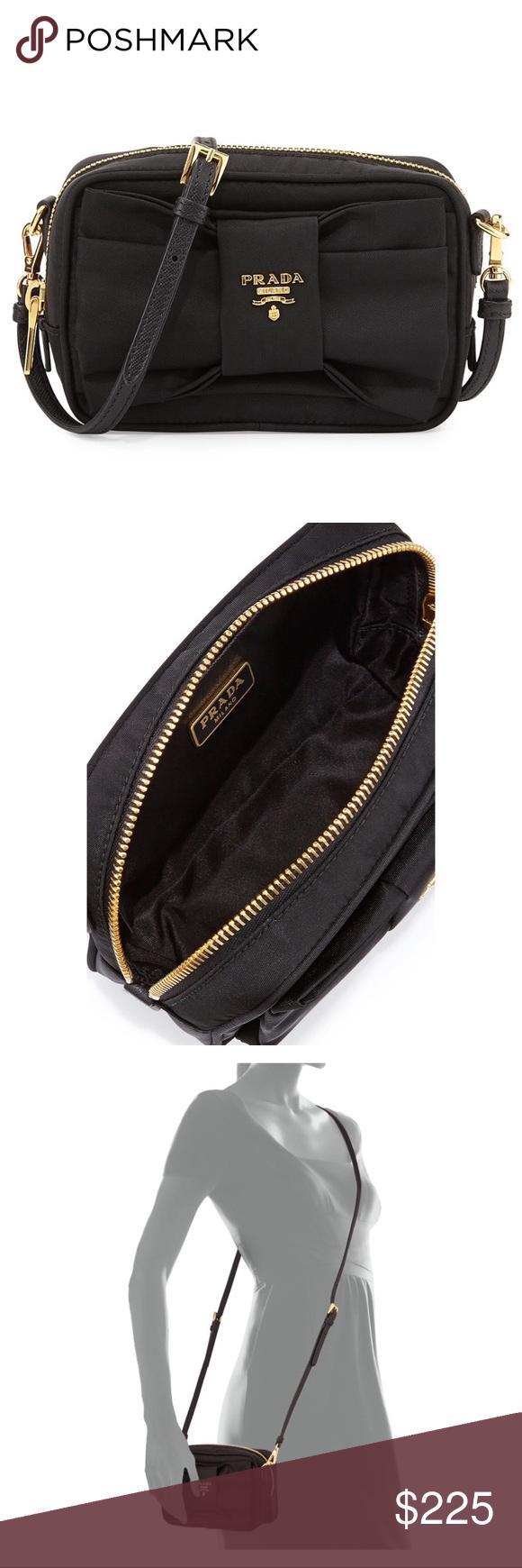 4184de5a0ac7 🖤Prada Tessuto Small Bow Crossbody Bag Black NWOT Prada Crossbody Black Bow  Bag 1N1727 Top