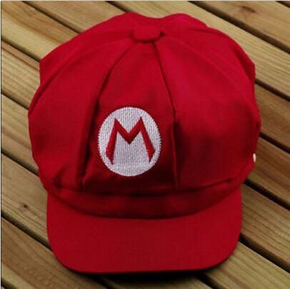 1pcs New arrival fashion Luigi Super Mario Bros Cosplay Adult Hat adjustable Buckle cap