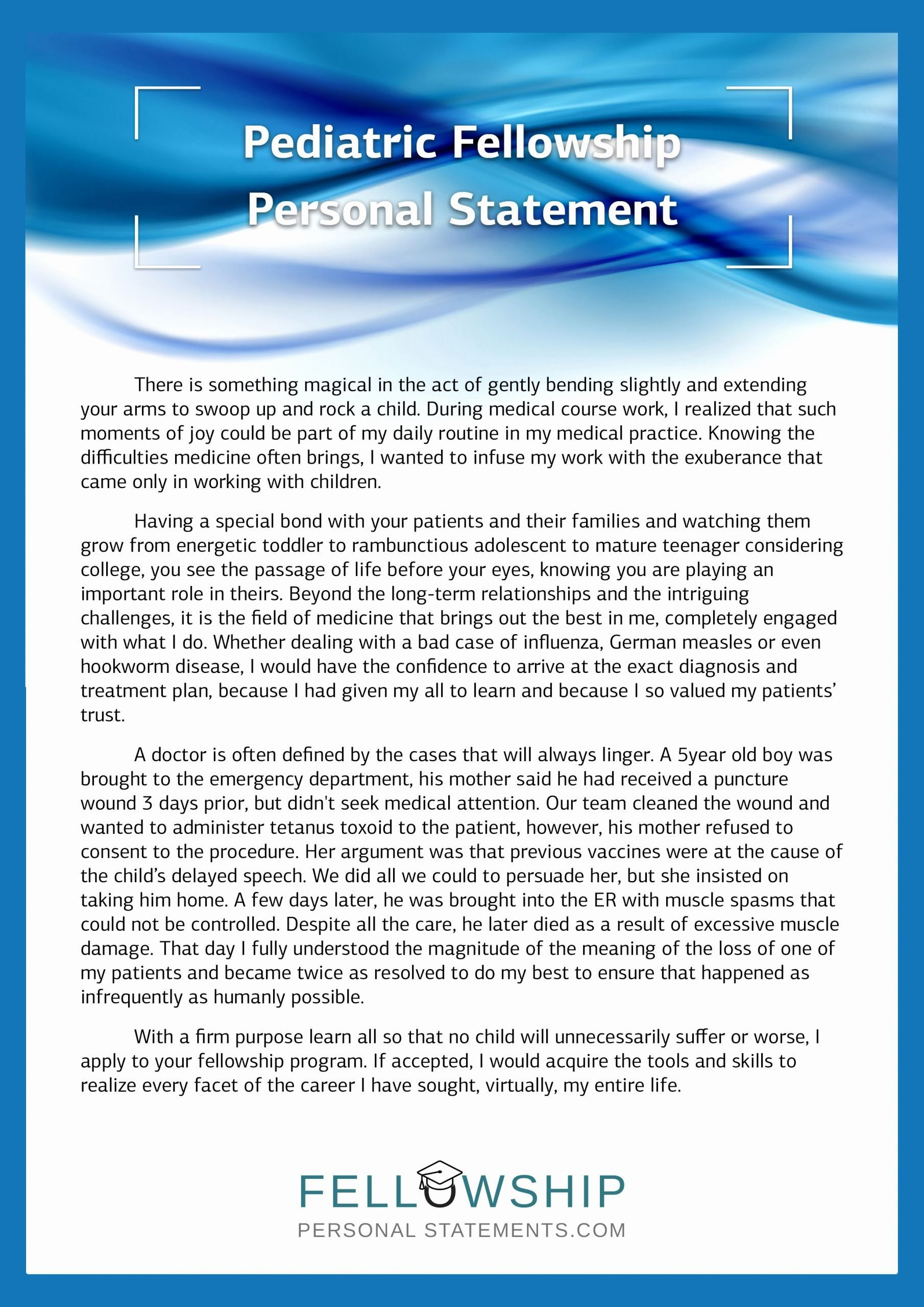 Personal Statement For Fellowship Sample Unique Best Mission Person Editing Service