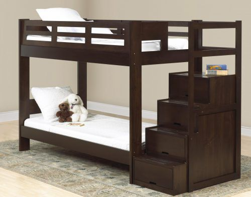 Double Deck Bed Design 02 With Storage Stair Modernbedroom