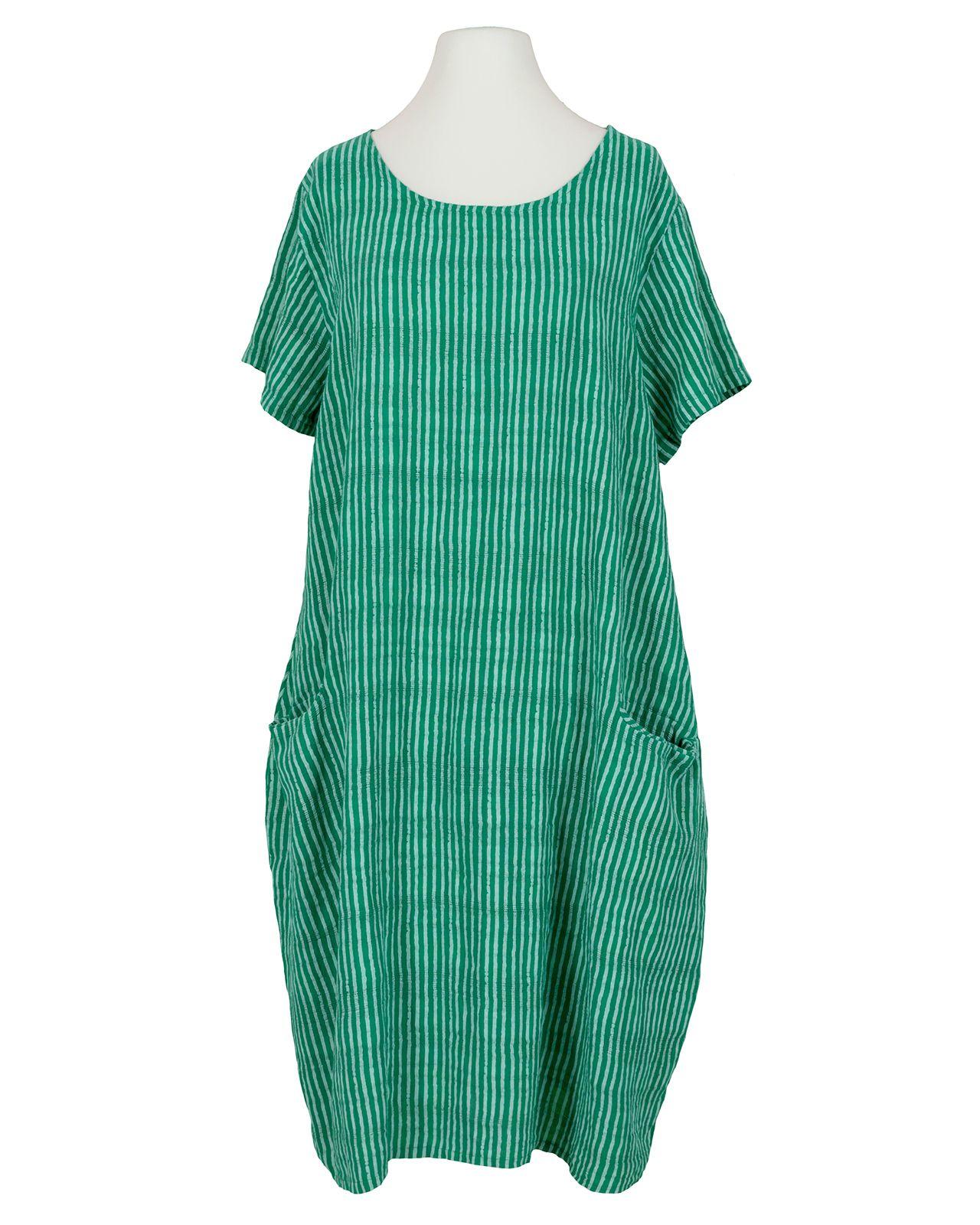Baumwollkleid Streifen, grÃŒn von Made in Italy in 19  Kleider