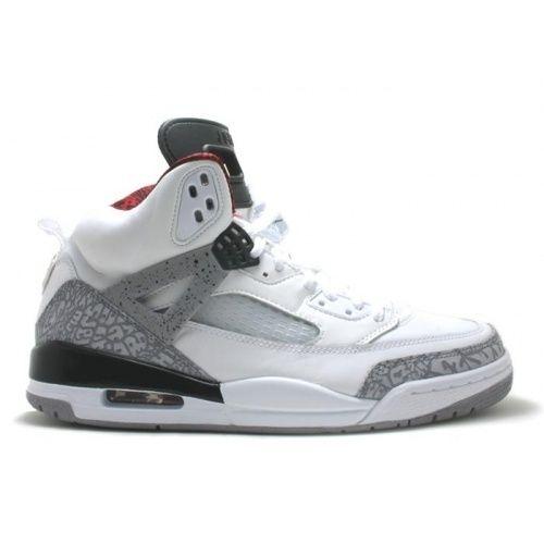 Air Jordan Spizike white cement grey varsity red black 315371 cheap Jordan  Spikize, If you want to look Air Jordan Spizike white cement grey varsity  red ...