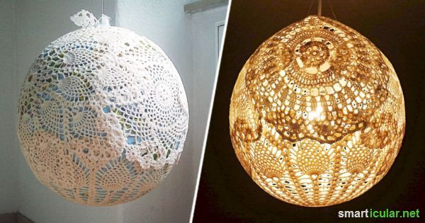 Originelle Lampenschirme Aus Spitzdeckchen Selber