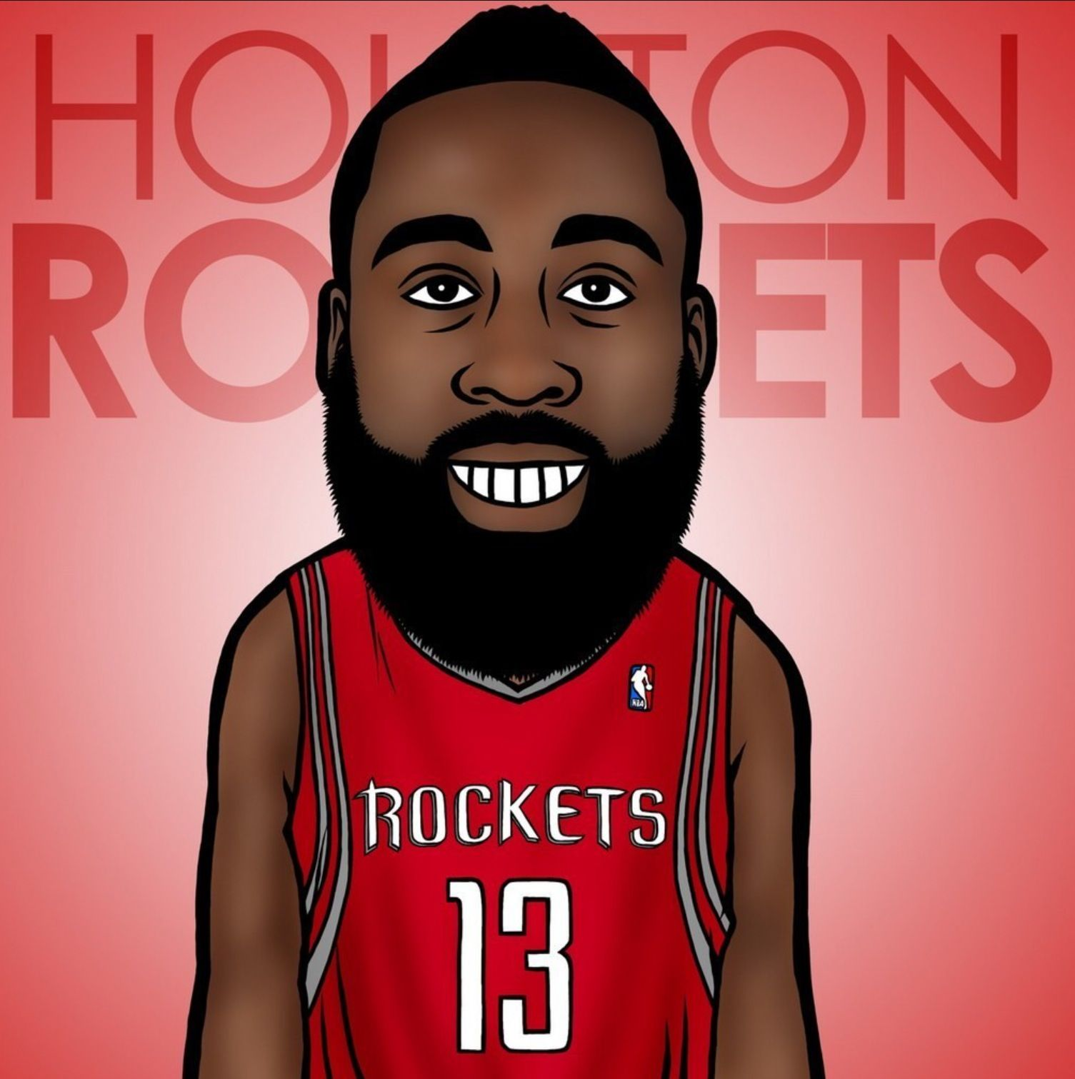 James Harden NBA cartoon image Pinterest