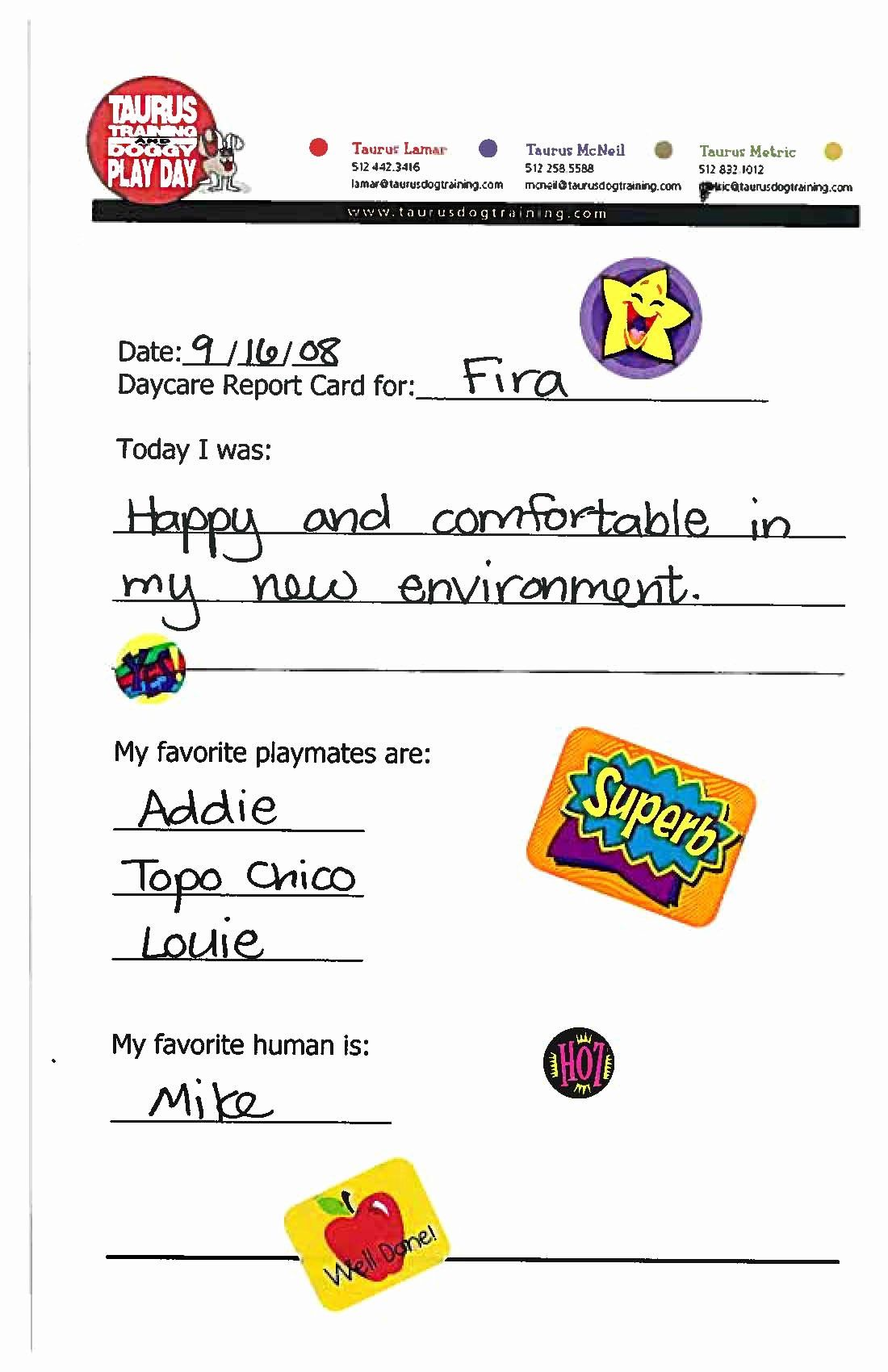 Dog Boarding Report Card Template Inspirational 21 Of Doggy Daycare Report Card Template Report Card Template Card Template Dog Daycare
