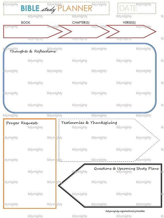 image relating to Printable Bible Study named Bible Exploration Planner / Organizer - Printable PDF (Prompt