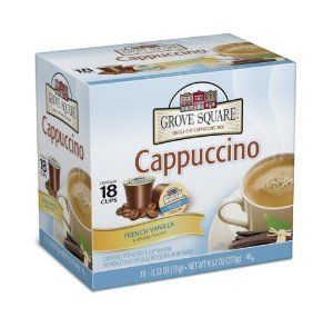 Grove Square Cappuccino, French Vanilla, 18-Count Single Serve Cup for Keurig K-Cup Brewers (Pack of 3): Amazon.com: Grocery & Gourmet Food
