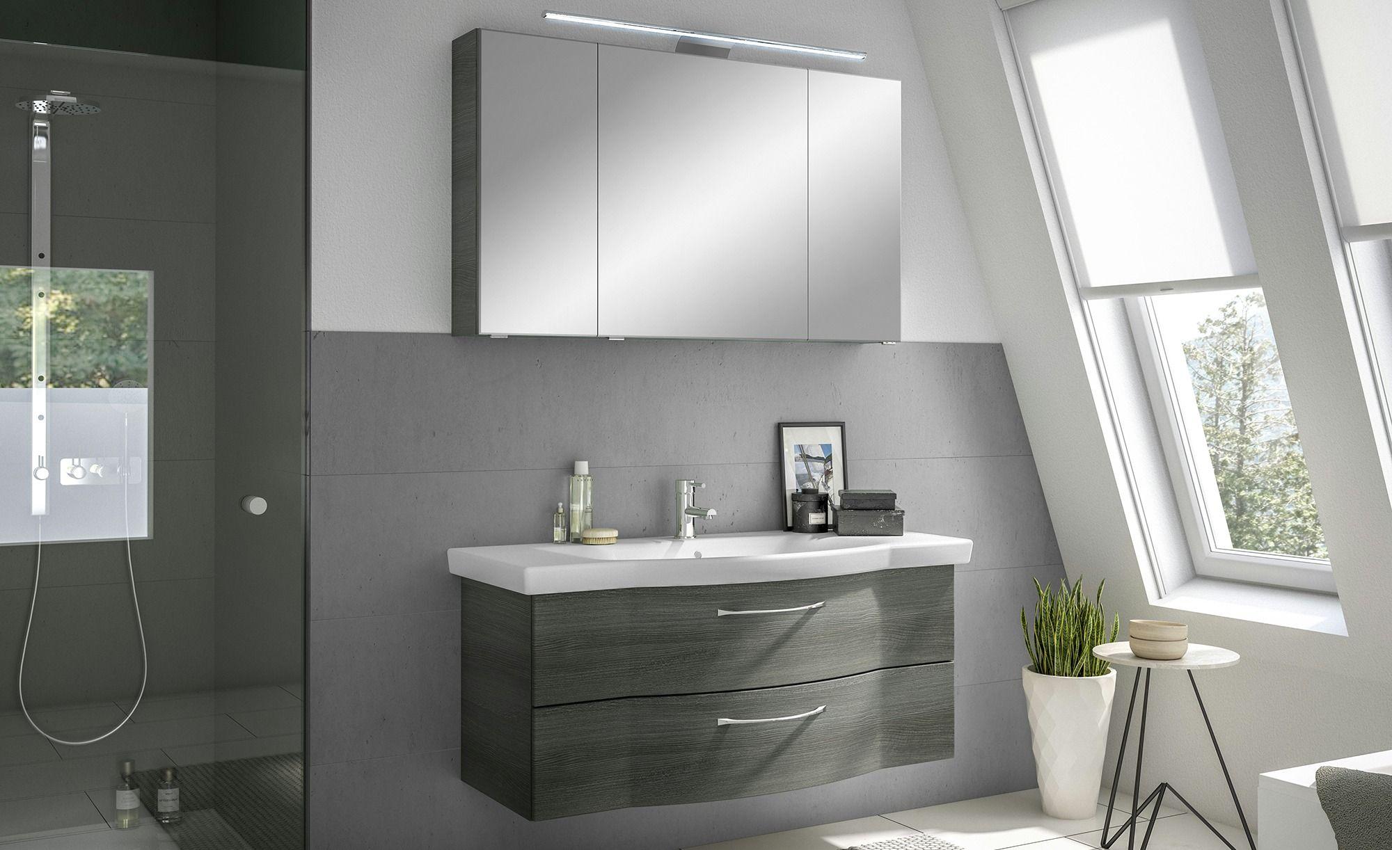Calmo Badezimmerkombination Rovana Gefunden Bei Mobel Hoffner Badezimmer Set Spiegelschrank Und Unterschrank