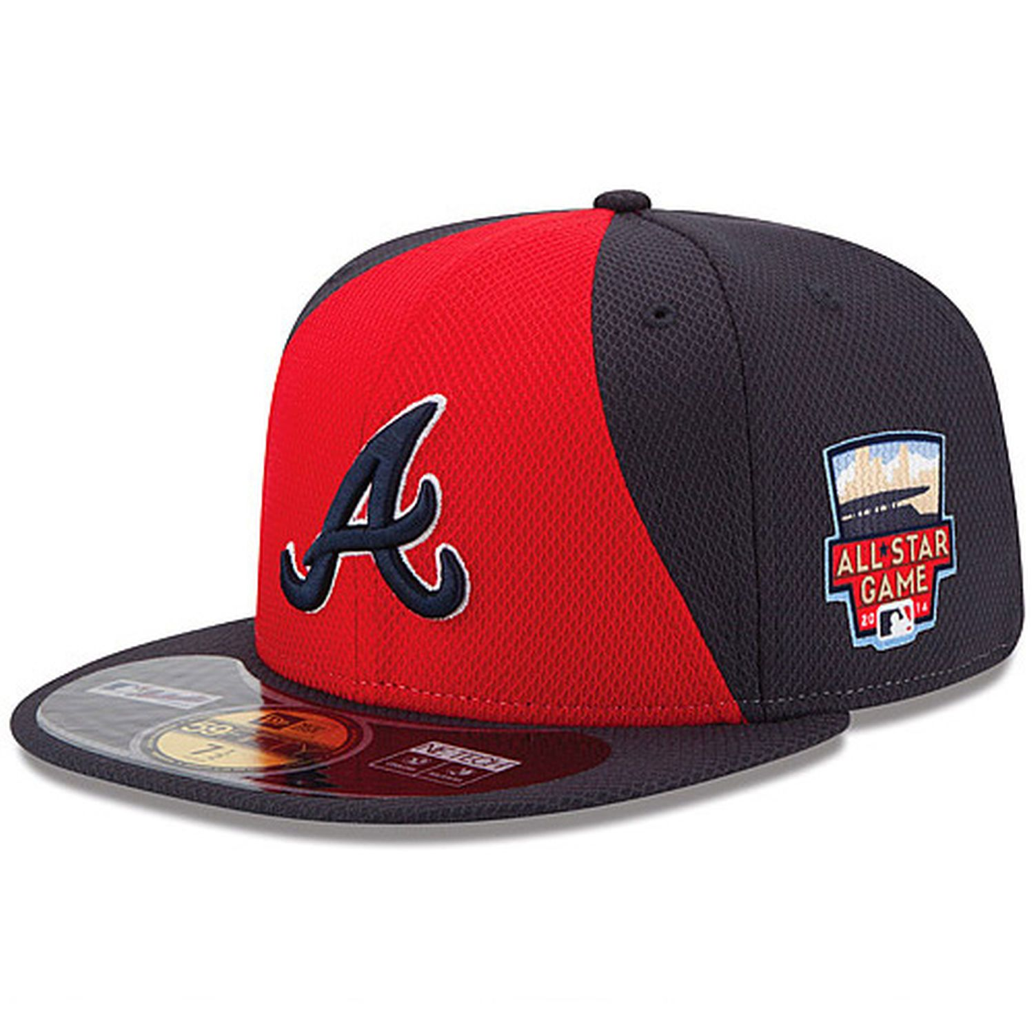 Men S Atlanta Braves New Era Red Navy Authentic Collection Diamond Era On Field 59fifty Fitted Hat With 2014 All S Braves Hat Atlanta Braves Atlanta Braves Hat