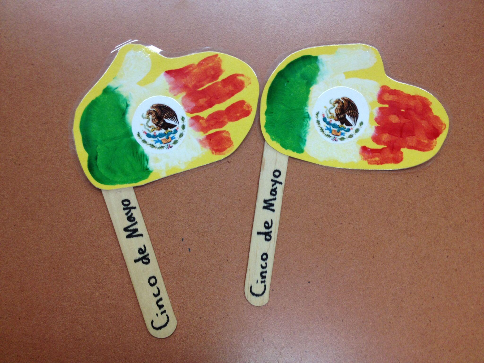 Cinco de mayo mexican flag coloring page - Cinco De Mayo Handprint Flags