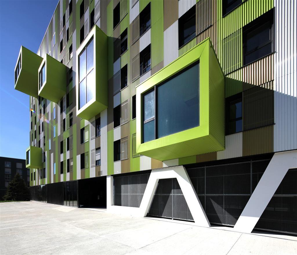 Studentenwohnheim Rennes/Frankreich Architekt: Clement