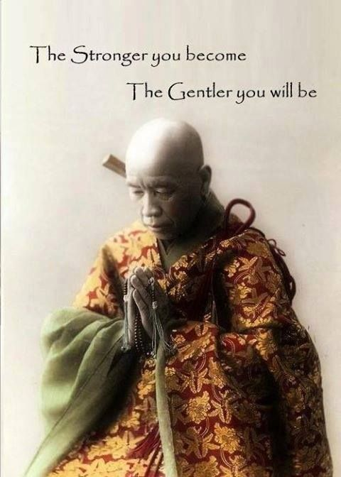 The stronger you become, the gentler you will be.