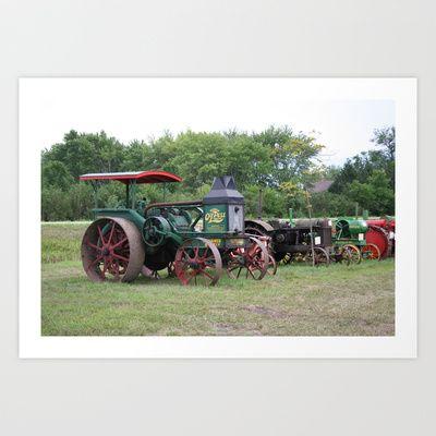 Vintage Tractors 2 Art Print by Andrea Jean Clausen - $17.68