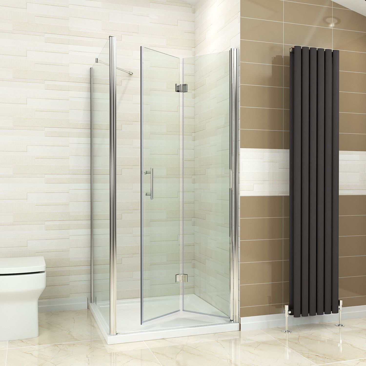 700 760 800 900 1000 Frameless Bi Fold Shower Door Enclosure Side Panel And Tray Ebay Bifold Shower Door Frameless Shower Enclosures Shower Doors