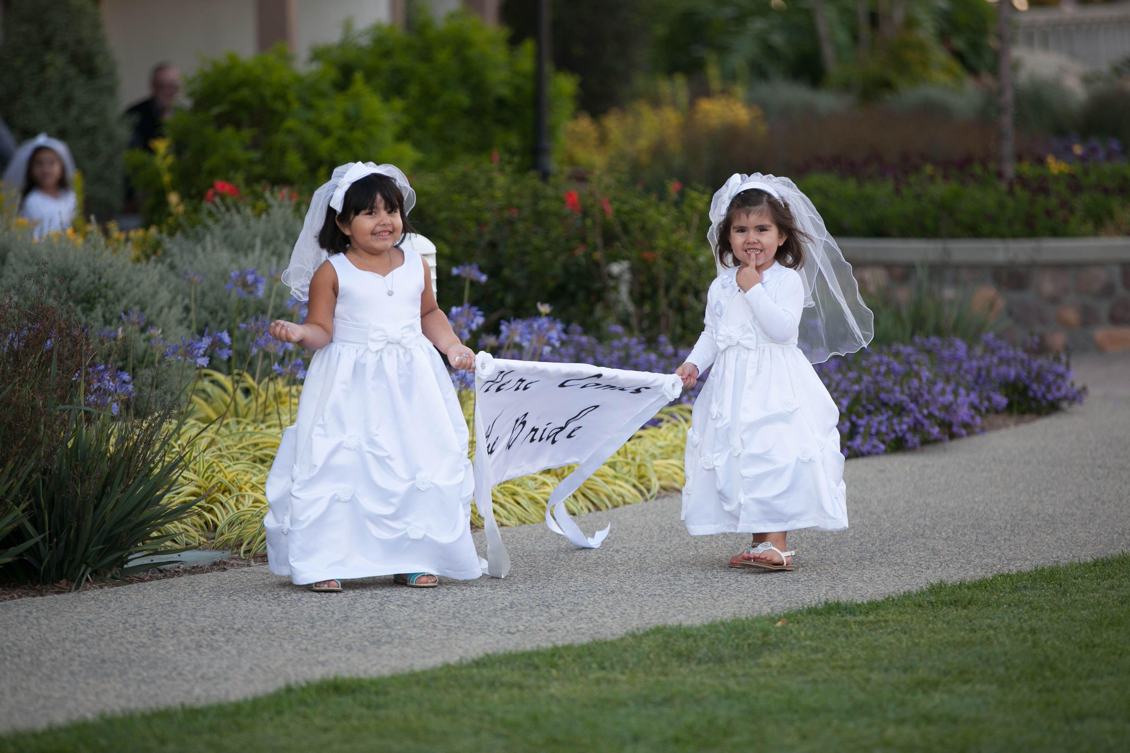 Rent your wedding dress  will the lil flower girls keep going  Beach wedding  Pinterest