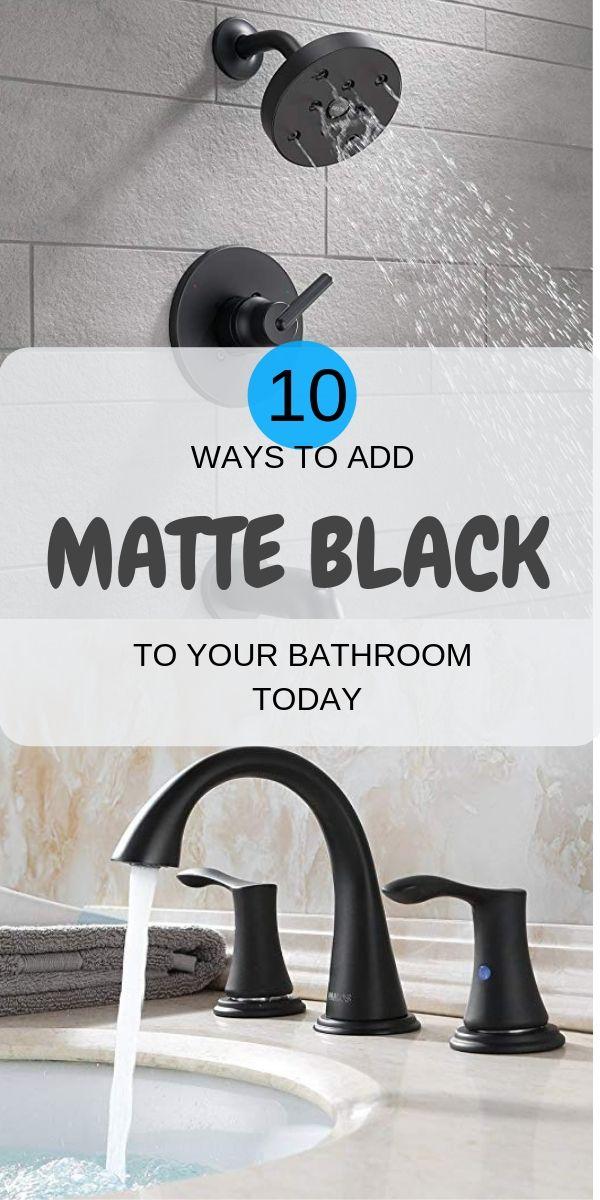 Photo of Must Have Matte Black Bathroom Fixtures